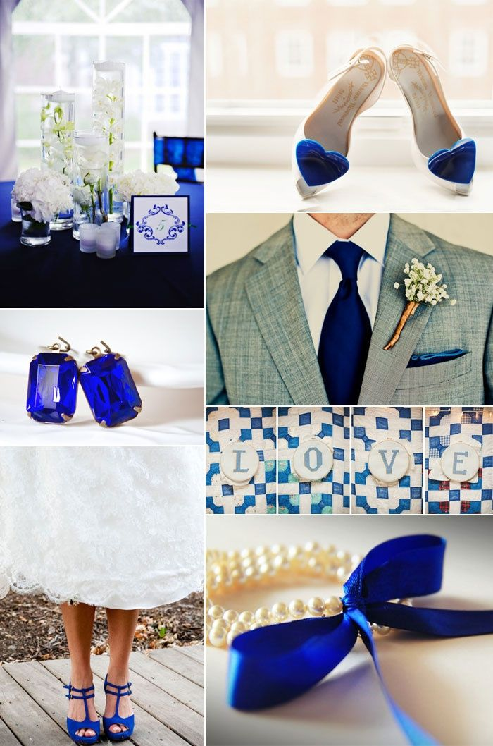 Cobalt blue wedding ♥ love the grooms outfit, and the ...