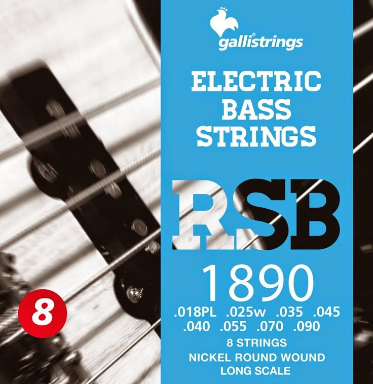 RSB 1890 8 strings nickel round wound  .018p -.025 -.035 -.045 -.040 -.055 -.070-.090 RSB A nickel wrapped hexagonal core with a rough surface for those looking for a sparkling timbre, with a metallic sound, and long lasting. Gallistrings delivers the freshest strings stright from our facility to your instrument!