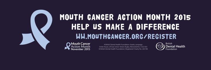 Are you keen to take part in Mouth Cancer Action Month 2015 or would just like to learn more about the campaign?  Register today and help us make a difference - http://www.mouthcancer.org/register/ ‪#‎MouthCancerAction‬