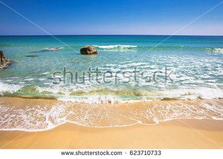 Orri beach in a windy day, Sardinia