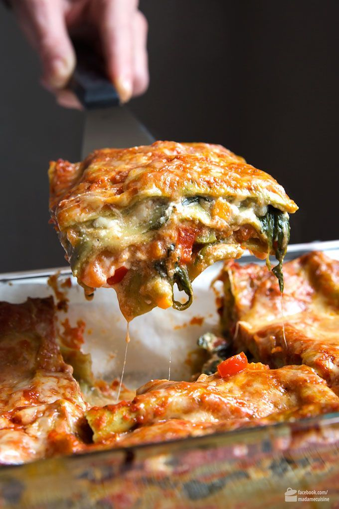 Gemüse-Lasagne mit Spinat: Amore Italia – Madame Cuisine #Nudeln • Pasta  • Noodles