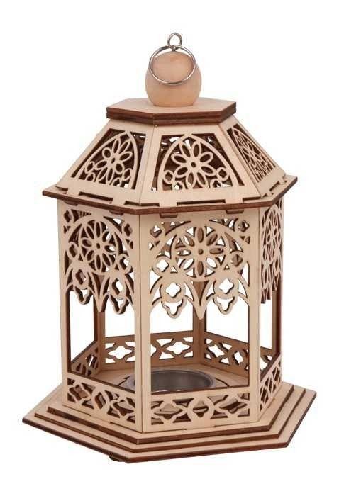 Dřevěné dekorace - Stojánek na čajové svíčky Pavilón.  241,-