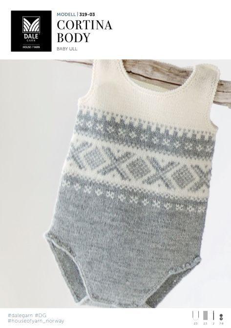 strikket body til baby