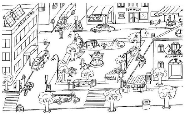 Dibujos De Pueblos Para Colorear Primeros Grados Dibujos De Ciudades Ciudades