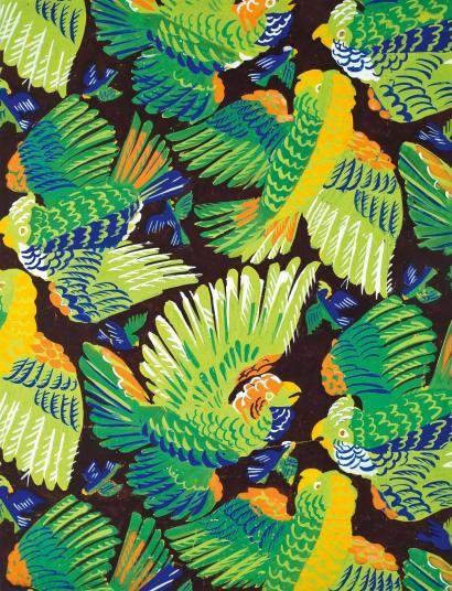 Raoul Dufy 1877-1953 (French)   Parrots, 1930 gouache on paper 53 x 41 cm