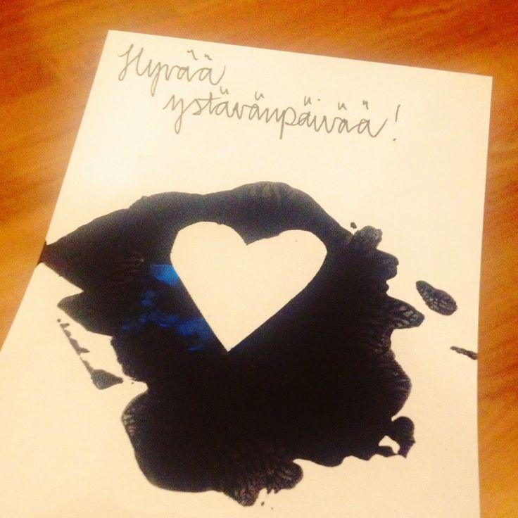 Hupsutteluja: Veit sydämeni! -kortti // You Stole My Heart! DIY Valentine's Card