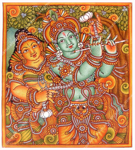 833 best images about kerala mural paintings on pinterest for Mural art of ganesha