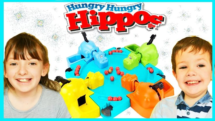 Hungry Hungry Hippos Game For Children Family Fun Challenges & Toy Unbox...