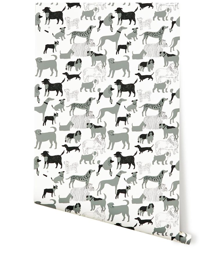 buy handbags online Dog Park Wallpaper by Julia Rothman   Clever dog themed wallpaper is screen printed by hand   Hygge  amp  West