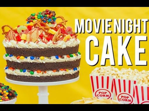 How To Make A MOVIE NIGHT CAKE! Root beer chocolate cake, vanilla buttercream, M&Ms and popcorn! Video on Yummly