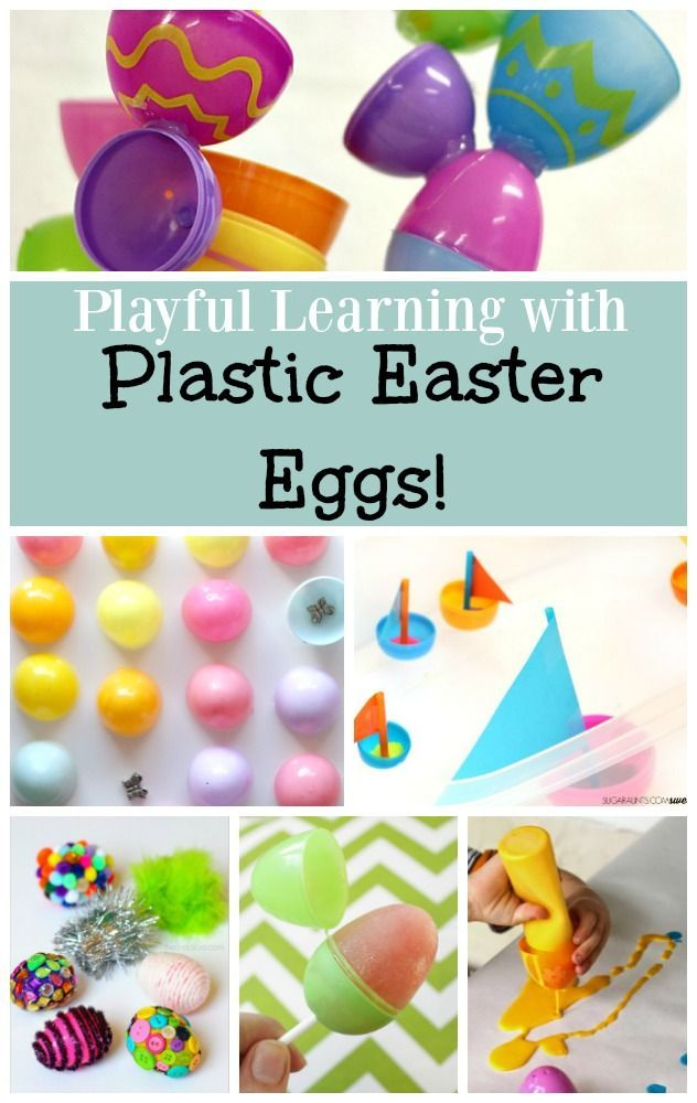 Wondering what to do with those plastic Easter eggs! Preschool Easter activities!