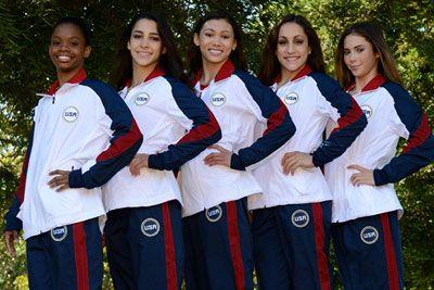 So excited!! 2012 Women's Gymnastics Olympic Team! Gabby, Aly, Kyla, Jordyn, and McKayla(: