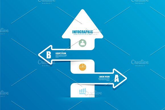 Arrow Line Infographics by Pongsuwan on @creativemarket