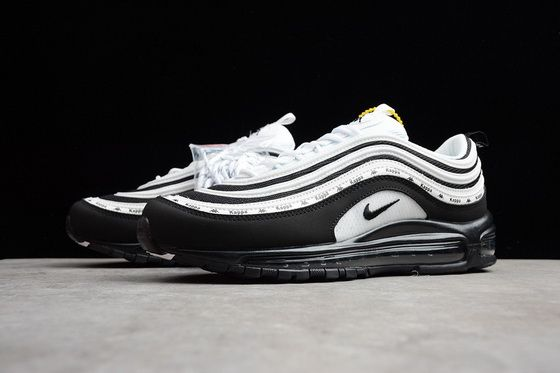 Kappa X Nike Air Max 97 Oreo White Black 2018 Original Sneaker ... 2a4d75104