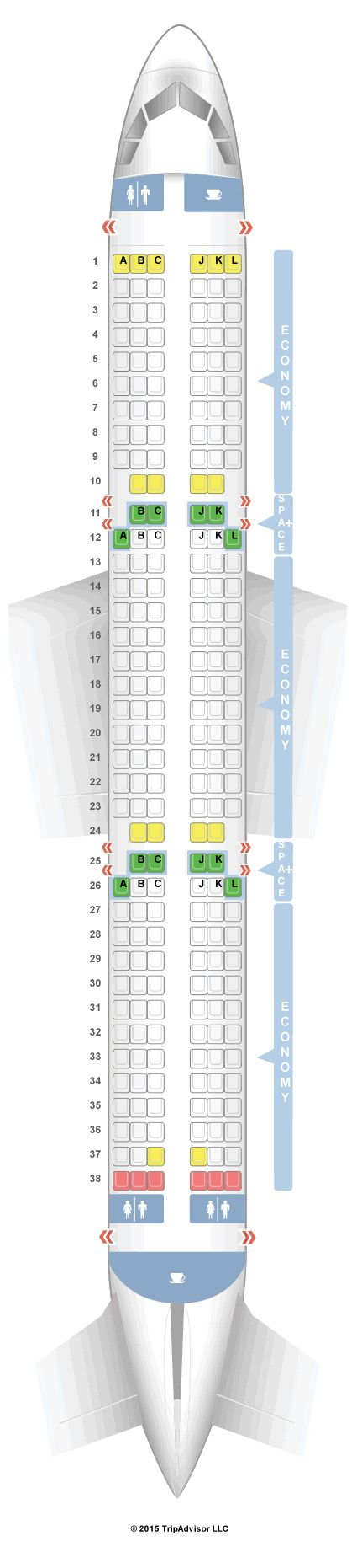 Ide Terbaik Airbus A Seating Chart Di Pinterest Boeing - Us airways a321 seat map