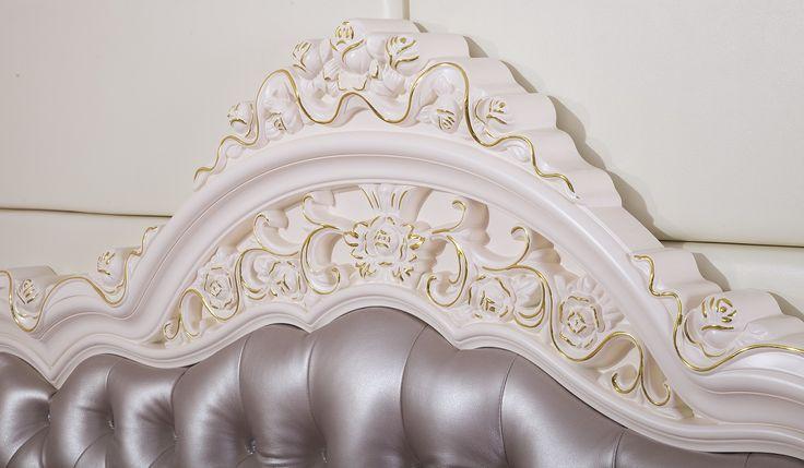 楽天市場】ロココ調・高級彫刻付きベッド(マットレスなし):輸入家具の ...
