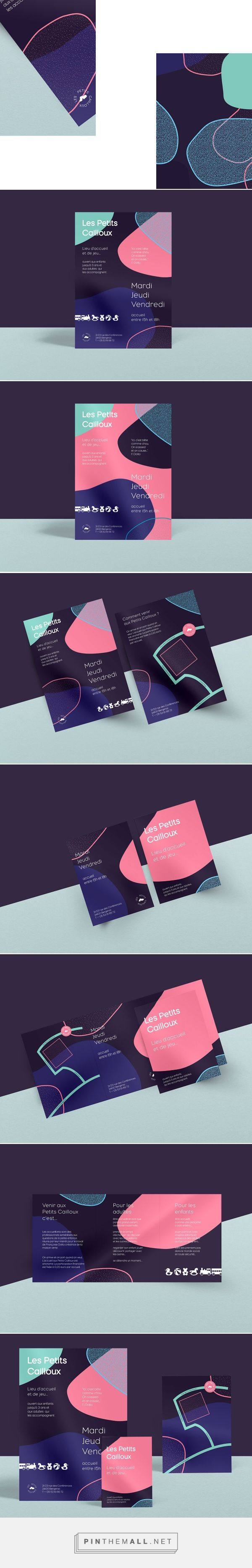 Les Petits Cailloux — Identity & Print on Behance - created via http://pinthemall.net
