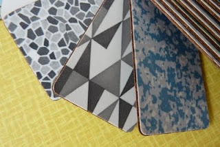 More of my formica samples - I love the triangles one.