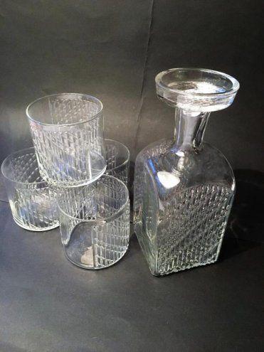 Nanny Still FLINDARI-karahvi+lasit, Riihimäen Lasi