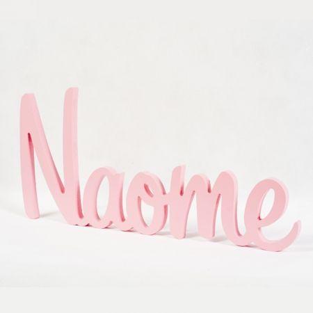 Pink personalised painted wooden name or word - hardtofind.
