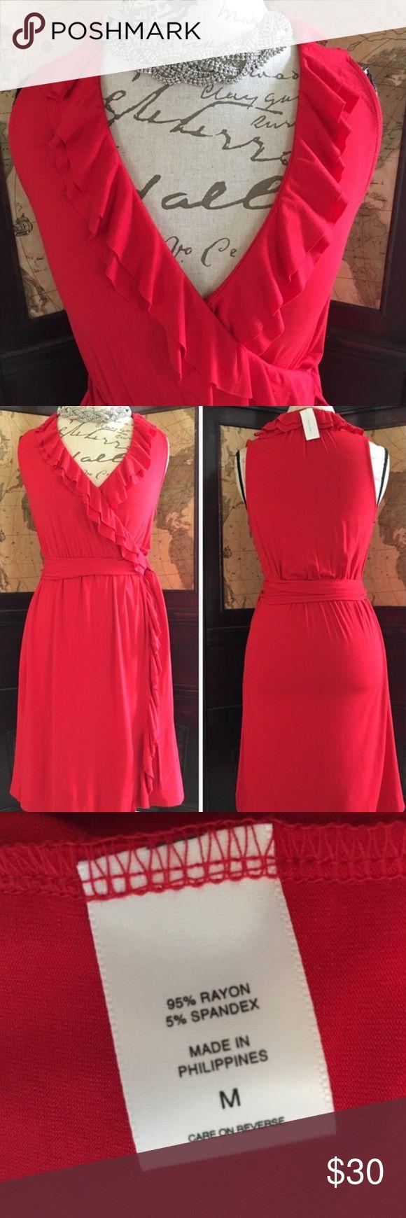 Nwt Ny Amp Co V Neck Knee Length Pullover Dress Nwt Beautiful