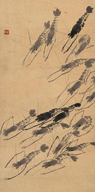 齐白石-虾之群虾 | Painted by the contemporary artist Qi Baishi 齐白石.… | Flickr - Photo Sharing!