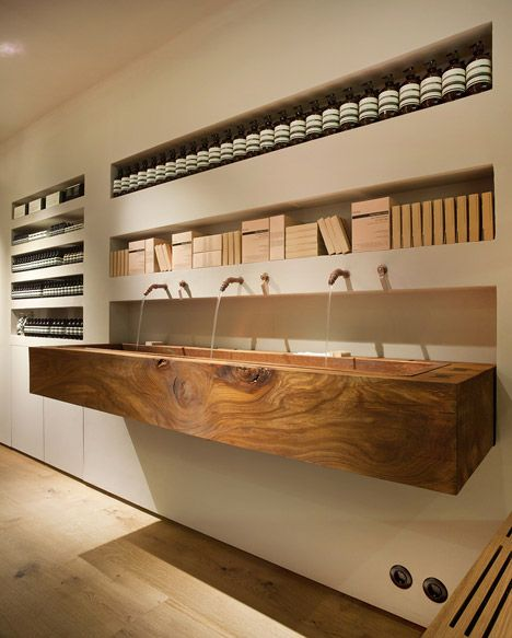 In Praise of Shadows uses dead wood from a Stockholm park in first Swedish Aesop store.