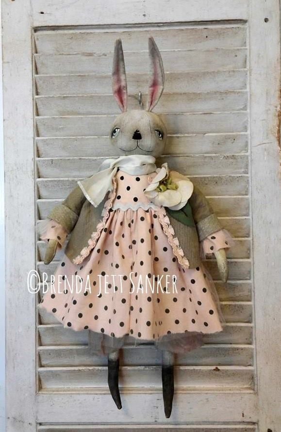 Primitive Folk Art Bunny Rabbit Easter Doll  https://www.facebook.com/pages/Brenda-Jett-Sanker-Primitive-Folk-Art/1423960567857875?ref=hl