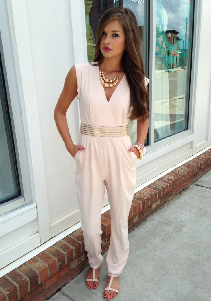 Blush jumpsuit #swoonboutique