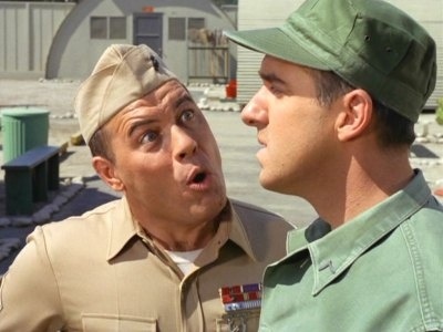 Frank Sutton and Jim Nabors from Gomer Pyle, U.S.M.C.