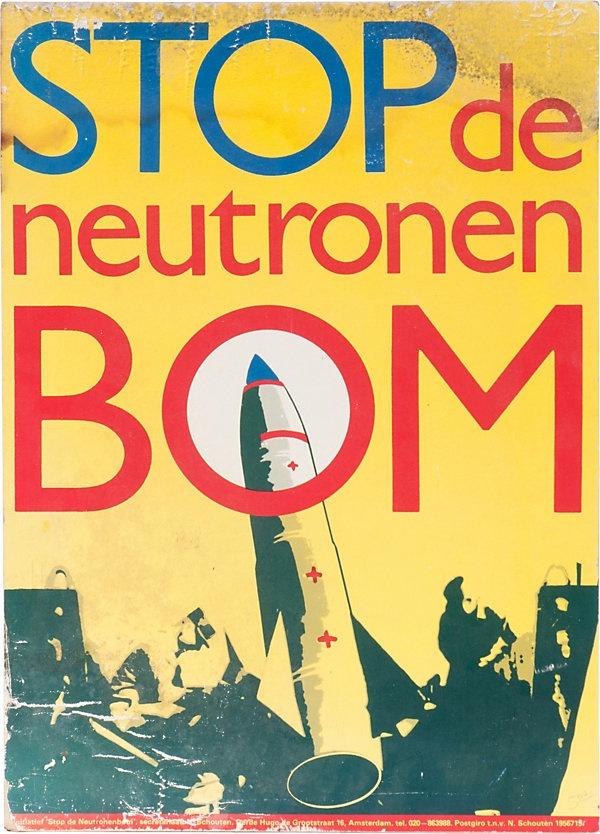 One Kings Lane - Haskell Antiques - Stop de Neutronen Bom Poster, 1978