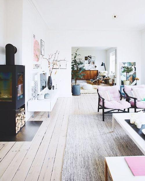 whitewashed floors