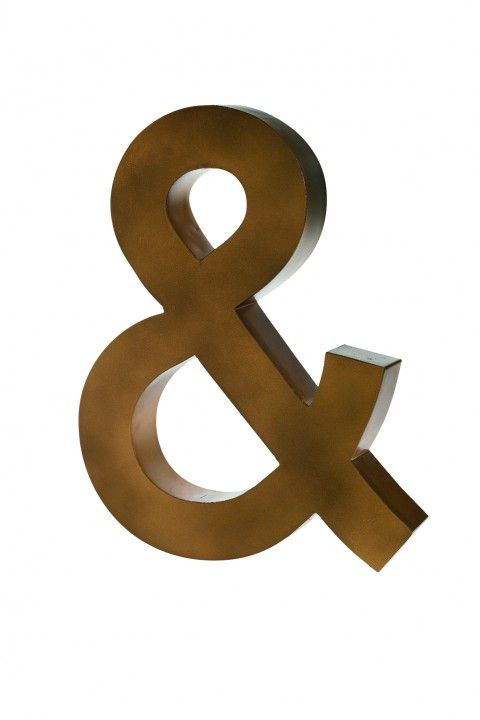Antique Gold Ampersand Sign www.graceandgrey.co.uk