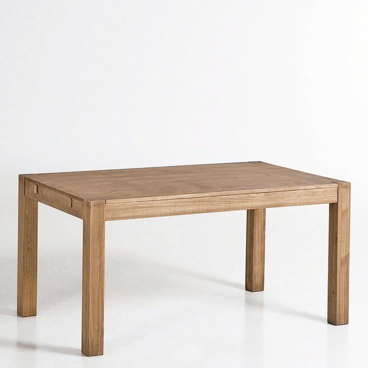 Table 2 allonges pin massif 6 à 8 couverts, TEKORA Autre | La Redoute  on aime : le prix 269,99 euros