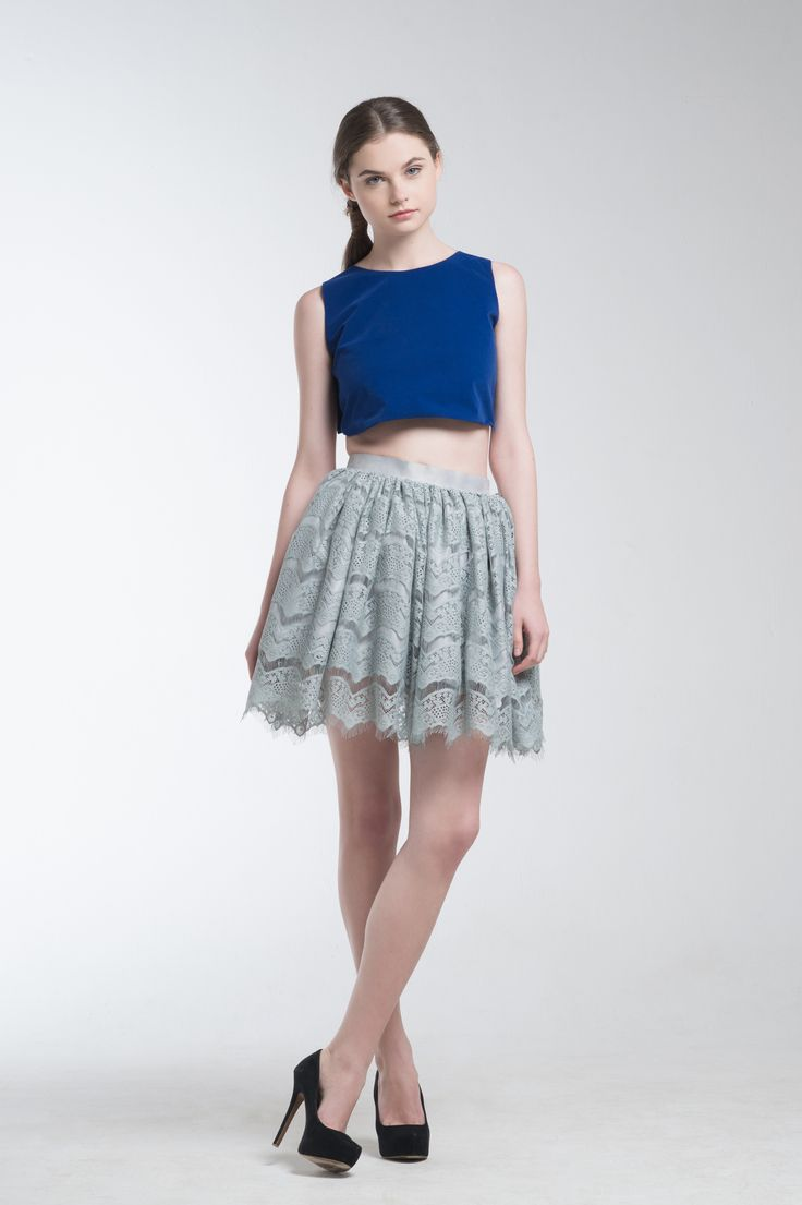 Lana Crop Top and Lyla Lace Skirt from Jolie Clothing  #JolieClothing www.jolie-clothing.com  #Fashion #designer #jolie #Charity #foundation #World #vision #indonesia  #online #shop #stefanitan #fannytjandra #blogger