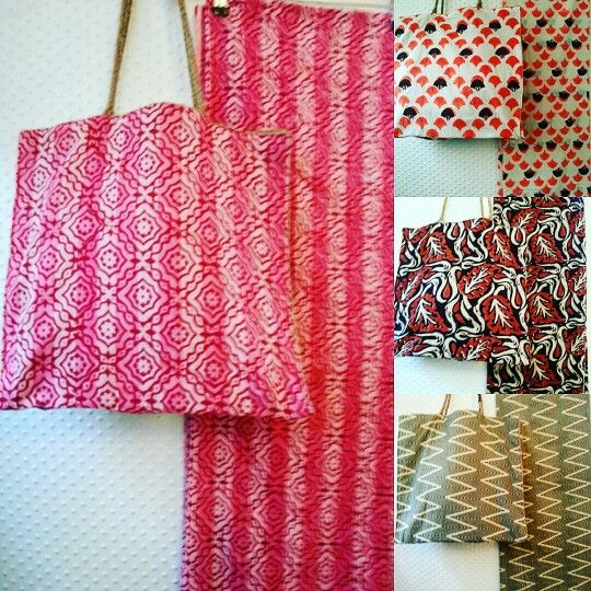 Juta bag e pareo block prints
