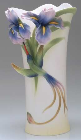 Franz Collection Long Tail Hummingbird - Tall Vase