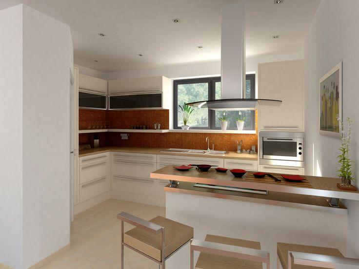 64 best Kitchen Living Room Concept images on Pinterest Kitchen - moderne offene küche