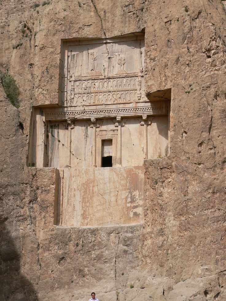 https://flic.kr/p/6shS3z | P1080553 Naqsh-e Rostam: Tombs of Ancient Persians Kings | Naqsh-e Rostam is an archaeological site located about 12 km northwest of Persepolis, in the Fars province, and lies a few hundred meters from Naqsh-e Rajab. Four tombs belonging to the Achaemenid kings are carved out of the rock face. They are all at a considerable height above the ground. The tombs are known locally as the 'Persian crosses', after the shape of the facades of the tombs. One of the tombs is…