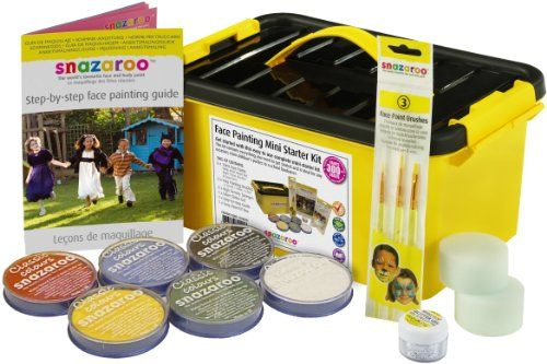Snazaroo Face and Body Paint Mini Starter Kit, 14 pieces Snazaroo http://www.amazon.co.uk/dp/B000Y17NNM/ref=cm_sw_r_pi_dp_V2GWub0ZHD3HH