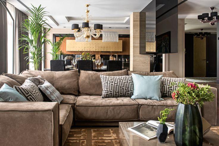 Интерьер московской квартиры в стиле звёздного дизайнера Келли Уистлер