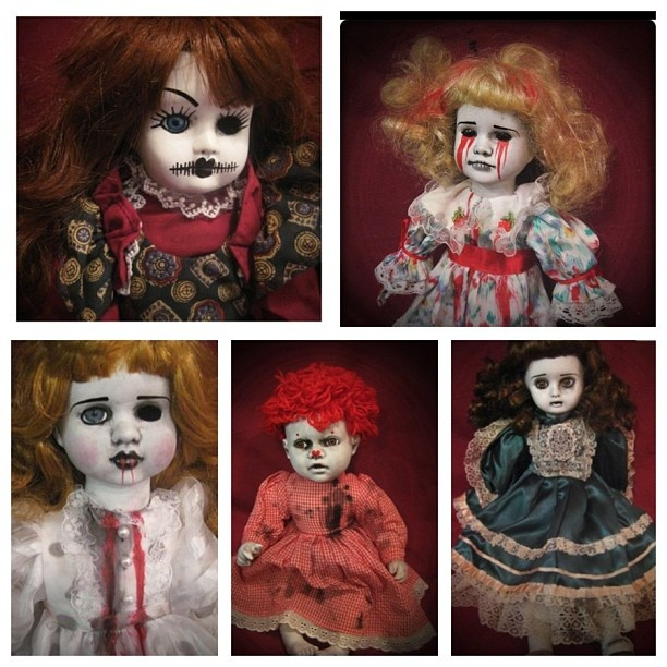 Scary Diy Halloween Decorations: 107 Best Images About Creepy Dolls-Haunted House On