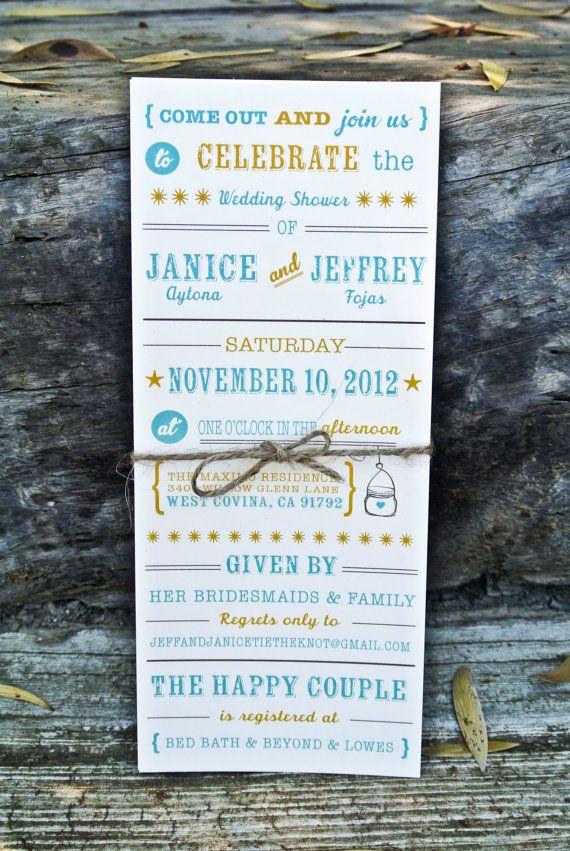 blank beach bridal shower invitations%0A Wedding Shower Invitation Rustic Mason Jar by WideEyesDesign