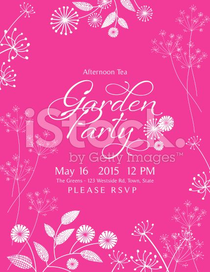 275 best invitation templates images on pinterest royalty wild flower design garden party invitation royalty free stock vector art stopboris Image collections