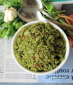 Green Rice - Cilantro, Curry leaves and Mint rice - Coriander leaves, curry leaves and Mint leaves rice - Pudina Kothamalli karuveppilai Sadam - Simple healthy rice - Lunch recipes| Great-secret-of-life