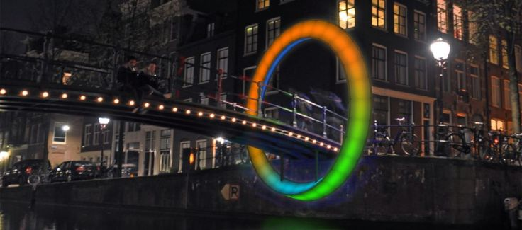 Rob van Houten -- Circle of Life (Möbiusring) -- Amsterdam Light Festival