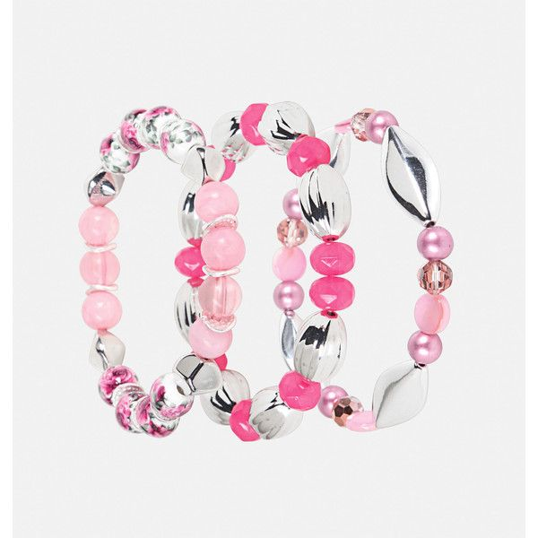 Avenue Pink Floral Stretch Bracelet Set ($11) ❤ liked on Polyvore featuring jewelry, bracelets, pink, plus size, fake jewelry, stretch jewelry, artificial jewellery, layered jewelry and pink bangles