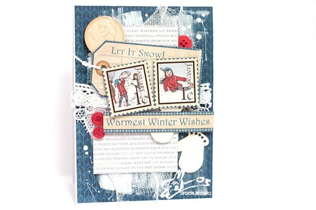 Winter wishes card for Diabelski Mlyn