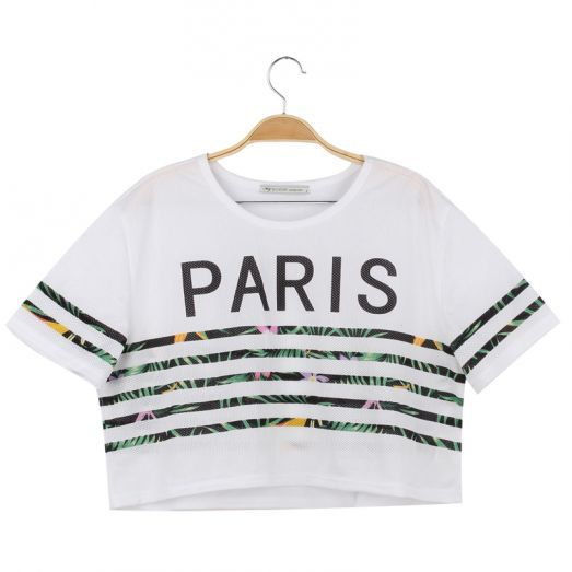 This season's favourite crop top   #tshirt #croptop #paris #cute #festivaloutfit #fun #white #fashion #forwomen #glostory