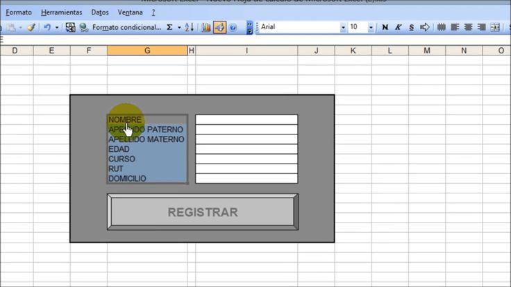 Como hacer un formulario para ingresar datos en una hoja de calculo de e...
